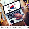 South Korea National Flag Business Communication Connection Conc 21350566