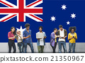 Australia Flag Country Nationality Liberty Concept 21350967