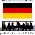 Germany Country Flag Nationality Culture Liberty Concept 21351151