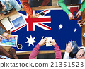 Australia Flag Country Nationality Liberty Concept 21351523