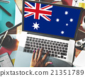 Australia Flag Country Nationality Liberty Concept 21351789