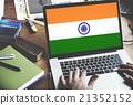 India Flag Patriotism Indian Pride Unity Concept 21352152