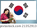 South Korea National Flag Studying Women Students Concept 21352913