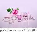 Cosmetics, set, on, lilac, background 21359309