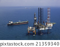 Offshore oil rig drilling platform 21359340