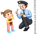 Police recording lost child 21359450