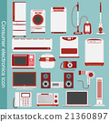 家用电子产品图标图表 21360897