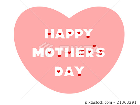 Mother's Day Mother's Day Heart Logo Mark 21363291
