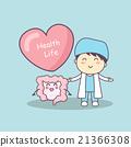 cute cartoon doctor with intestine 21366308