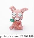 粘土 橡皮泥 兔子 21369406
