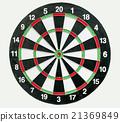 darts board isolated 21369849