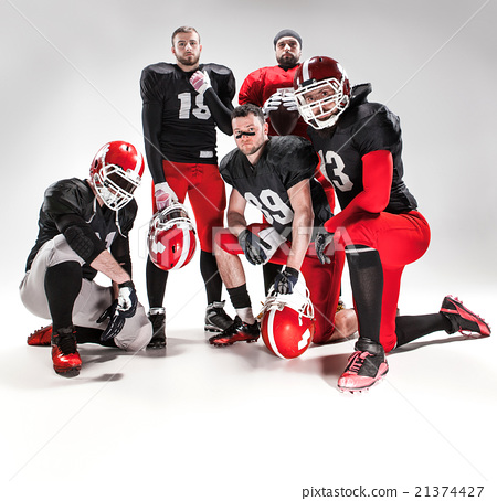 The five american football players posing with 21374427