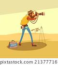 Journalist Cartoon Illustration  21377716