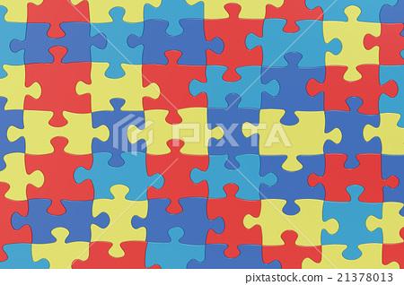 Puzzle Pieces Autism Awareness Colors Background 21378013