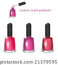 Set of nail polish 21379595