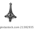 decoration of Eiffel Tower over white  21382935
