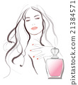 Young pretty woman advertising for perfume 21384571