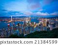 夜景 香港 太平山頂 21384599
