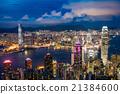 夜景 香港 太平山頂 21384600