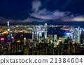 夜景 香港 太平山頂 21384604