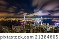 夜景 香港 太平山頂 21384605
