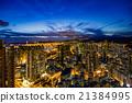 夜景 香港 人群 21384995