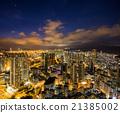 夜景 香港 高層建築 21385002