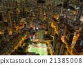 夜景 香港 高層建築 21385008