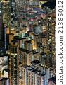夜景 香港 人群 21385012