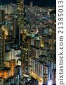 夜景 香港 人群 21385013