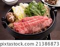 日本黑牛肉 牛肉 壽喜燒 21386873