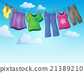 Clothes on clothing line theme image 2 21389210