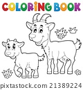 Coloring book with happy goats 21389224