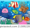 Coral reef fish theme image 2 21389228