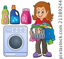 Laundry theme image 1 21389244
