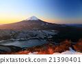 富士山 小柴胡汤湖 早晨 21390401