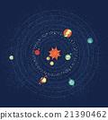 Solar system vector 21390462
