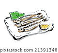 柳葉魚 烤魚 烘烤的 21391346