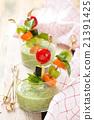 Green cream soup. 21391425