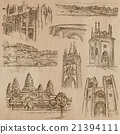 Architecture - hand drawn vector pack 21394111