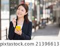 女性 行動電話 iphone 21396613