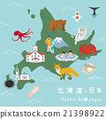 홋카이도, 북해도, 지도 21398922