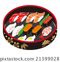 sushi, bucket, nama-zushi 21399028