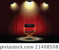 background curtain director's chair with spotlight 21408508