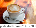 Cup of latte coffee 21409703