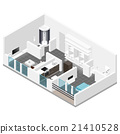 Residential apartment with balcony isometric icon 21410528