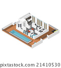 Penthouse apartment isometric icon set 21410530
