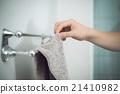 浴巾 手心 手上 21410982
