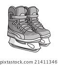 Etching ice skates 21411346