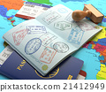 Travel or turism concept. Opened passport 21412949